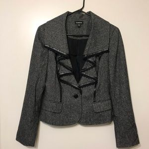 Bebe Blazer with Lace and Faux Leather trimming